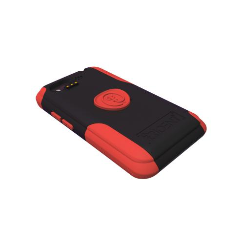 Original Trident Aegis HTC Rhyme Hard Cover Over Silicone Case w/ Screen Protector, AG-RHYME-RD - Red/ Black