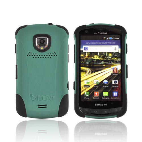 Original Trident Aegis Samsung Droid Charge Hard Cover Over Silicone Case w/ Screen Protector, AG-SCHG-BG - Green/ Black