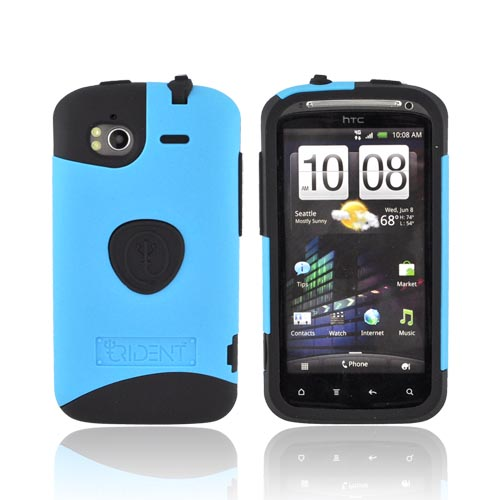 Original Trident Aegis HTC Sensation 4G Rubberized Hard Cover Over Silicone Case, AG-SEN-BL - Blue/ Black