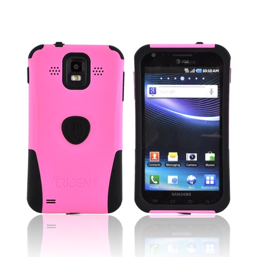 Original Trident Aegis Samsung Infuse i997 Hard Cover Over Silicone Case w/ Screen Protector, AG-SINF-PK - Pink/ Black