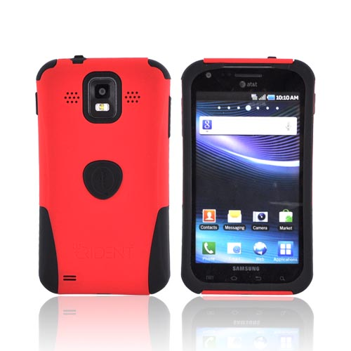 Original Trident Aegis Samsung Infuse i997 Hard Cover Over Silicone Case w/ Screen Protector, AG-SINF-RD - Red/ Black
