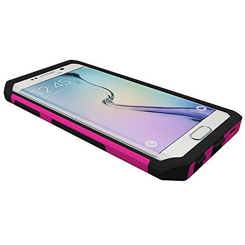 Samsung Galaxy S6 Edge Plus, Trident [Pink] Aegis Series Durable Protective Dual Layer Hybrid Case w/ Free Screen Protector