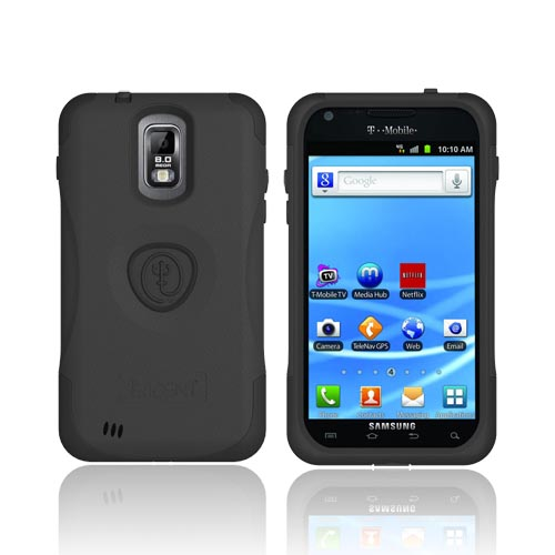 Original Trident Aegis T-Mobile Samsung Galaxy S2 Hard Cover Over Silicone Case w/ Screen Protector,AG-T989-BK - Black