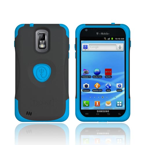 Original Trident Aegis T-Mobile Samsung Galaxy S2 Hard Cover Over Silicone Case w/ Screen Protector,AG-T989-BL - Blue/ Black