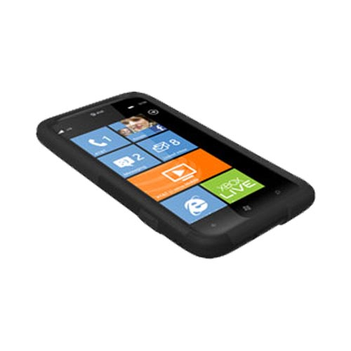 Original Trident Aegis HTC Titan 2 Hard Case Over Silicone w/ Screen Protector, AG-TITAN2-BK - Black