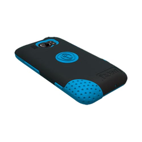Original Trident Aegis HTC Titan 2 Hard Case Over Silicone w/ Screen Protector, AG-TITAN2-BL - Blue/ Black