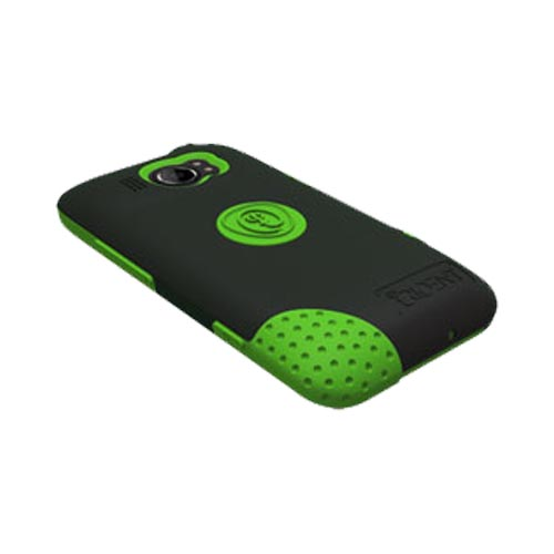 Original Trident Aegis HTC Titan 2 Hard Case Over Silicone w/ Screen Protector, AG-TITAN2-TG - Lime Green/ Black