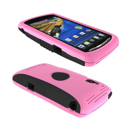 Original Trident Aegis Sony Xperia PLAY Hard Cover Over Silicone Case w/ Screen Protector, AG-XPER-PY-PK - Pink/ Black