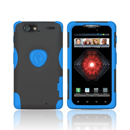 Original Trident Aegis Motorola Droid RAZR MAXX Hard Cover Over Silicone Case w/ Screen Protector, AG-XT912-BL - Blue/ Black