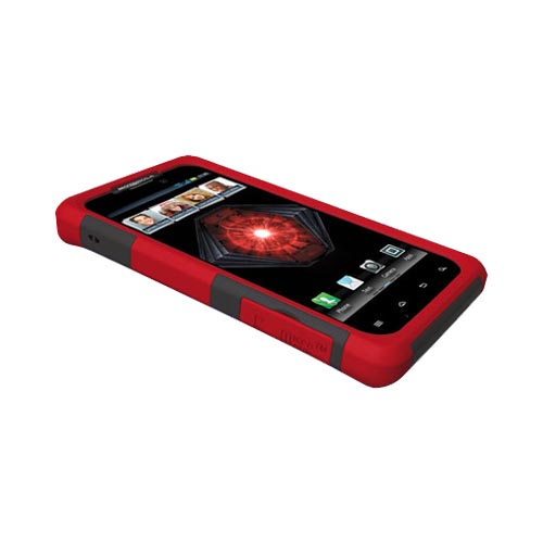 Original Trident Aegis Motorola Droid RAZR MAXX Hard Cover Over Silicone Case w/ Screen Protector, AG-XT912-RD - Red/ Black