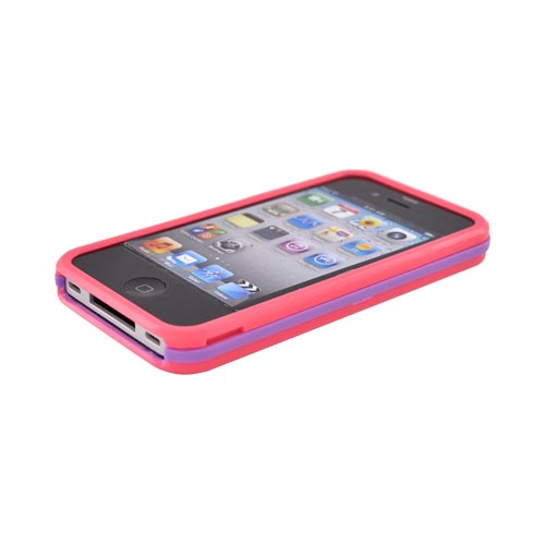 Original AGF Apple Verizon/ AT&T iPhone 4 Beetle Hard Case, 87168 - Hot Pink/ Lavender
