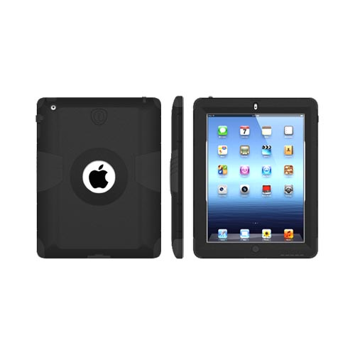 Original Trident Kraken AMS Apple New iPad Hard Case Over Silicone w/ Screen Protector, AMS-NEW-IPAD-BK - Black