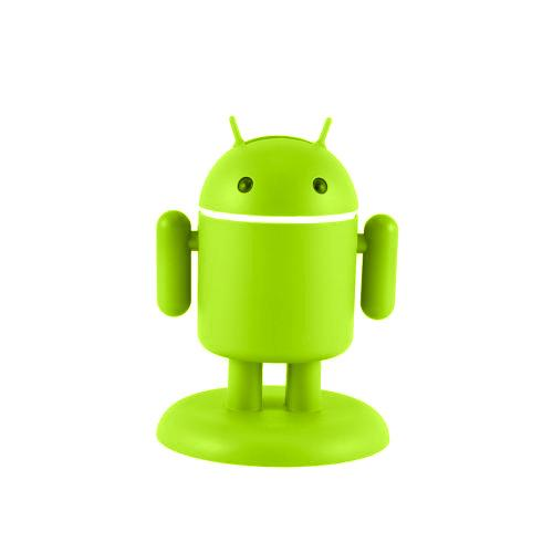 Original Gen Andru Android Robot Micro USB Cell Phone Travel Charger w/ Light Up Eyes (1A), Green Android