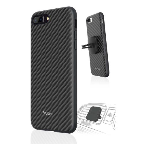 Apple iPhone 7 (4.7 inch) Case, Evutec - Karbon AER Scratch Resistant [Reinforced Kevlar Fibers] Hard Case w/ Vent Mount [Black]