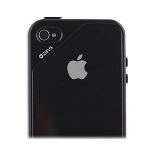Original Zenus AT&T/ Verizon Apple iPhone 4, iPhone 4S Air Bumper Mask Hard Case w/ Screen Protector, APIP4-BB2BA-BKWH - White/ Black