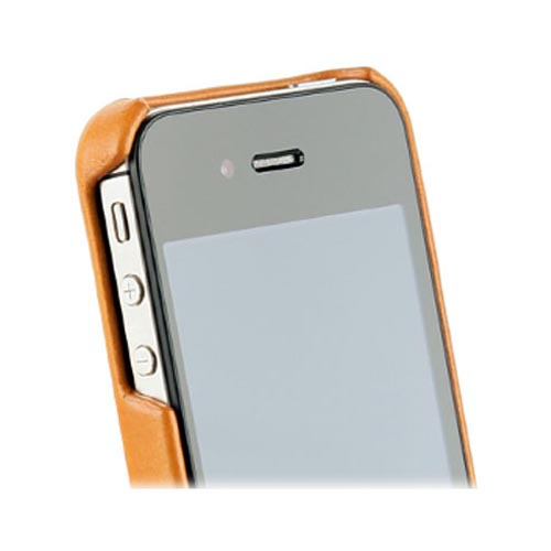 Original Zenus AT&T/ Verizon Apple iPhone 4, iPhone 4S E'stime Leather Bar Series Case, APIP4-ELLBA-CA - Camel