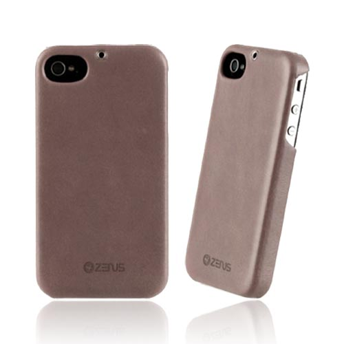 Original Zenus AT&T/ Verizon Apple iPhone 4, iPhone 4S E'stime Leather Bar Series Case, APIP4-ELLBA-GY - Jazzy Gray