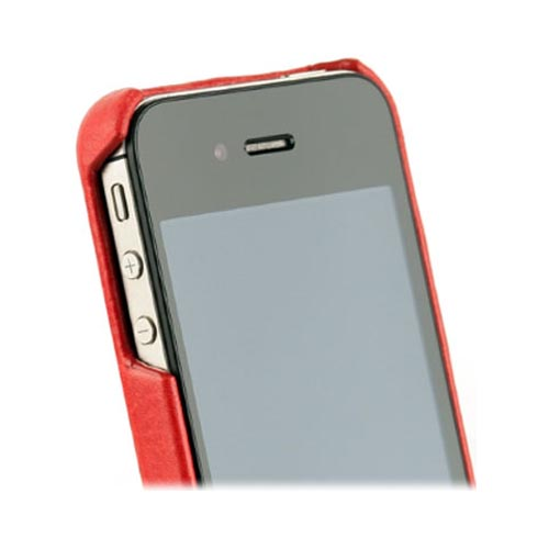 Original Zenus AT&T/ Verizon Apple iPhone 4, iPhone 4S E'stime Leather Bar Series Case, APIP4-ELLBA-RD - Royal Red