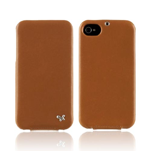 Original Zenus AT&T/ Verizon Apple iPhone 4, iPhone 4S E'stime Leather Folder Series Case, APIP4-ELLFD-GL - Gold Brown