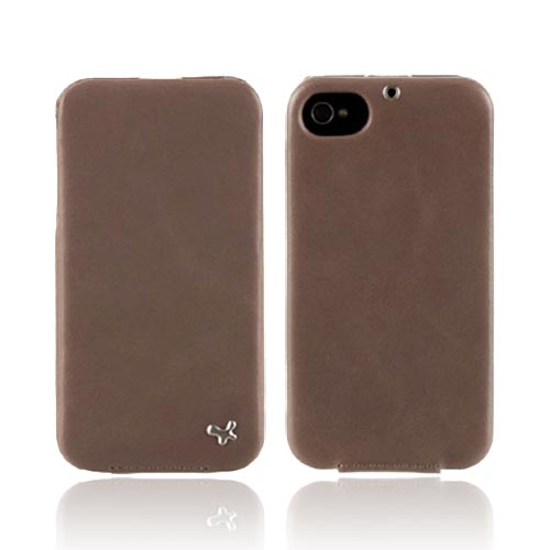 Original Zenus AT&T/ Verizon Apple iPhone 4, iPhone 4S E'stime Leather Folder Series Case, APIP4-ELLFD-GY - Jazzy Gray