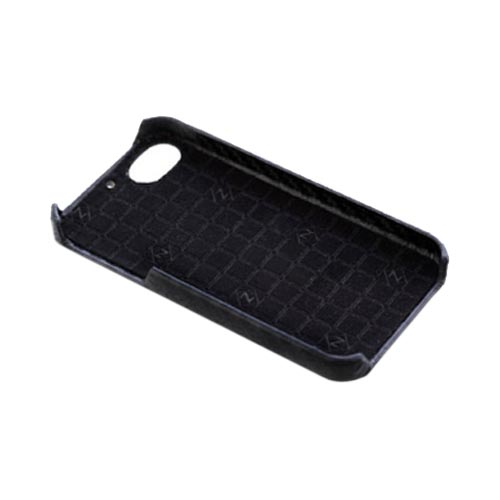 Original Zenus AT&T/ Verizon Apple iPhone 4, iPhone 4S Prestige Leather Carbon Bar Series Case, APIP4-PC5BA-BK - Black