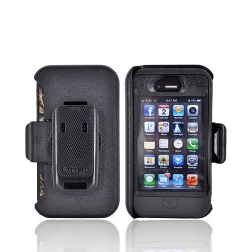 Original Otterbox AT&T/ Verizon Apple iPhone 4, iPhone 4S Defender Series Hard/ Silicone Case w/ Built-In Screen Protector & Holster, APL2-I4SUN-H5-E4RT1 - Black/ Real Tree Camo