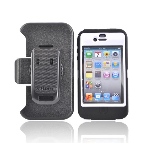 Original Otterbox Apple Verizon/ AT&T iPhone 4, iPhone 4S Defender Series Case w/ Holster, APL2-I4XXX-A2-E - White/Black