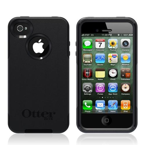 Original Otterbox Commuter Series Apple iPhone 4S, AT&T/ Verizon Apple iPhone 4 Hard Case over Silicone w/ Screen Protector, APL4-I4SUN-20-E4OTR - Black