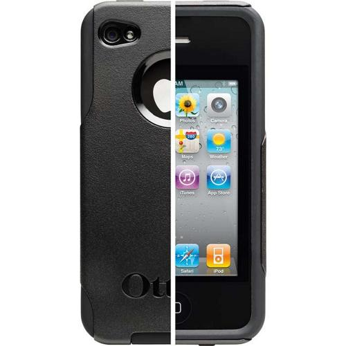 Otterbox Black Commuter Series Hard Case Over Silicone for Apple iPhone 4/4S