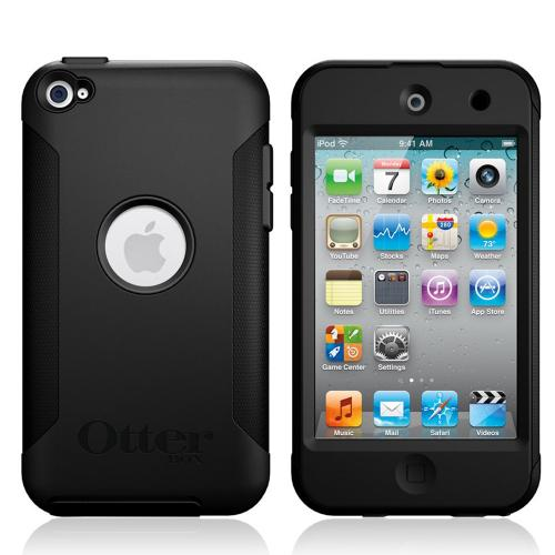 Original Otterbox Commuter Series Apple iPod Touch 4 Hard Case w/ Screen Protector, APL4-T4GXX-C4-E - Black