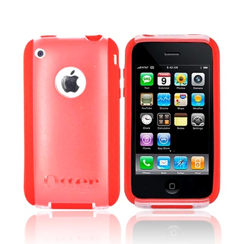 Original Otterbox Apple iPhone 3G 3GS Commuter TL Series Case, APL5-IPH3G-38-C50TR - Red