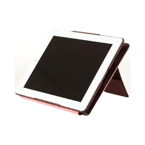 Original Zenus Apple iPad 2 Masstige Anaconda Folder Series Leather Case Stand, APPD2-MA5FD-WI - Red Wine w/ Salmon Interior