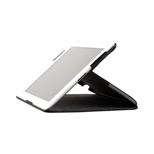 Original Zenus Apple iPad 2 Prestige Pearl Lizard Stand Series Leather Case Stand, APPD2-PL5ST-BK - Black