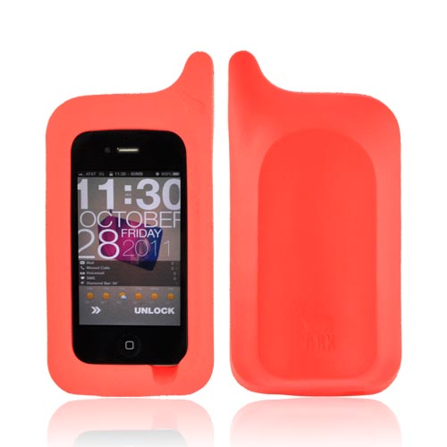Original ArkHippo 1 AT&T/ Verizon Apple iPhone 4/iPhone 4S/iPhone 3G 3GS Maximum Protection & Freestanding Cover - Orange