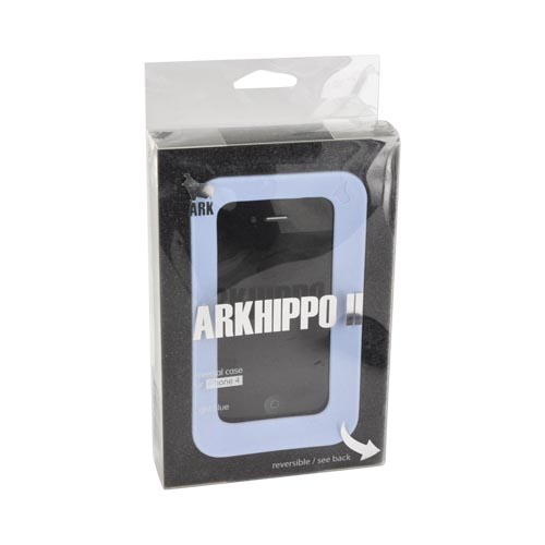 Original ArkHippo 2 AT&T/ Verizon Apple iPhone 4/iPhone 4S Maximum Protection & Freestanding Cover - Light Blue