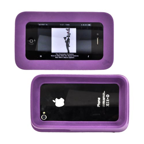 Original ArkHippo 2 AT&T/ Verizon Apple iPhone 4/iPhone 4S Maximum Protection & Freestanding Cover - Plum Purple