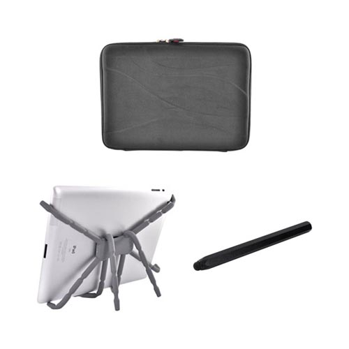 Asus Transformer Essential Bundle Package w/ Black Nylon Sleeve, Black Metal Pen Stylus & Spider Podium Stand