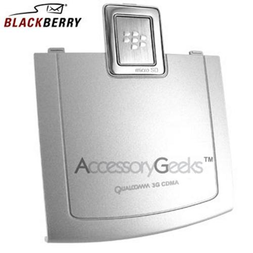 Original BlackBerry 8830 Standard Battery Door ASY-14321-006 - Silver