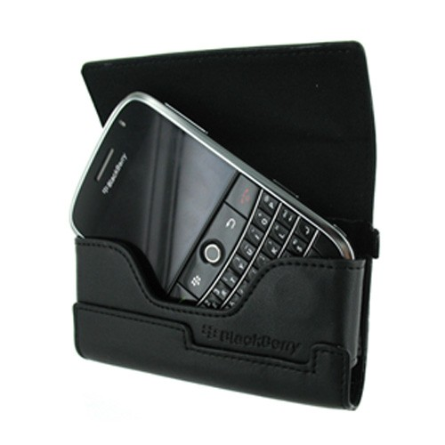Original Blackberry Curve 8330, 8320, 8310, 8300 Leather Horizontal Pouch - Black, ASY-15476-004