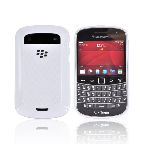 Original BlackBerry Bold 9900,9930 Hard Shell w/ Crystal Silicone Border, ASY-38174-002 - White