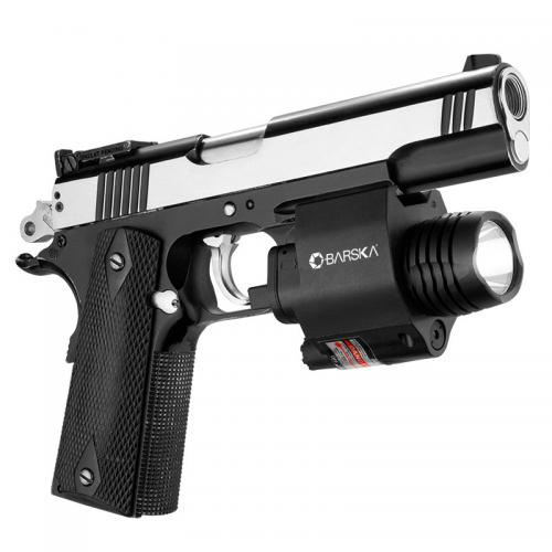 Barska Red Laser w/ 200 Lumen Flashlight [Black] [AU12392]