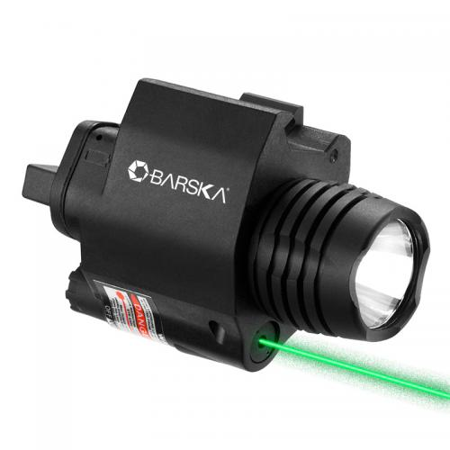 Barska Green Laser w/ 200 Lumen Flashlight [Black] [AU12394]