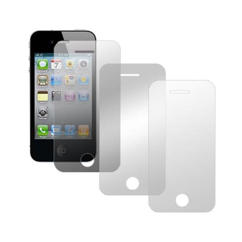 Apple iPhone 4 Essential Bundle Combo w/ Premium, Privacy and Mirror Screen Protectors