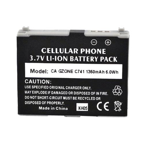 Casio G'zOne Brigade C741 Standard Replacement Battery - Black