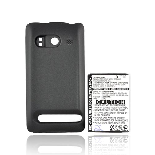 HTC Evo 4G Extended Battery w/ Door (2400 mAh) - Black