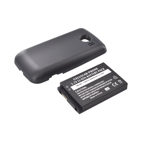LG Optimus S LS670 Extended Battery & Door - Black (2600 mAh)