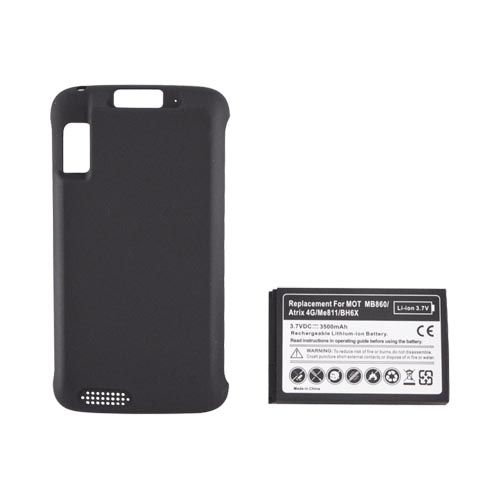 Motorola Atrix 4G Extended Battery & Door (3500 mAh) - Black