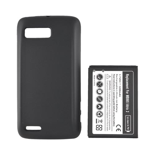 Motorola Atrix 2 Extended Battery w/ Door - Black (3200 mAh)