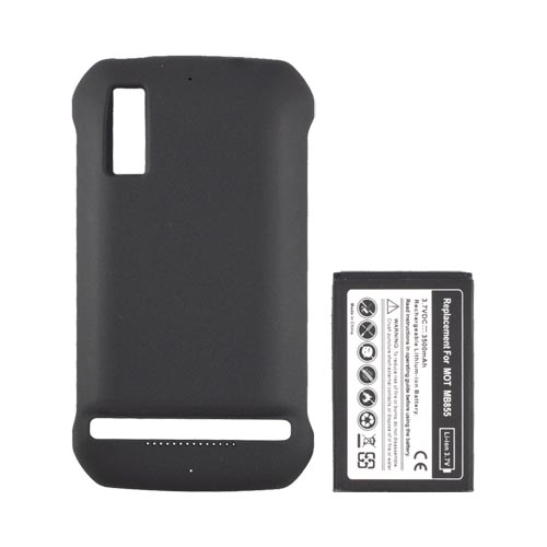 Motorola Photon 4G Extended Battery w/ Rubberized Door (3000 mAh) - Black