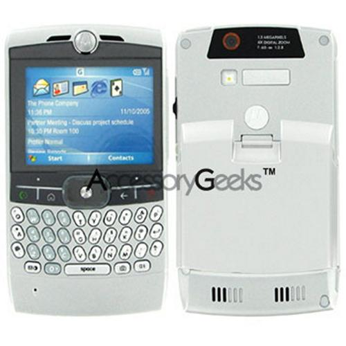 Motorola Q Extended Battery and Silver Extended Door
